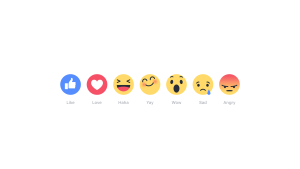Facebook Reactions with 'Yay' icon