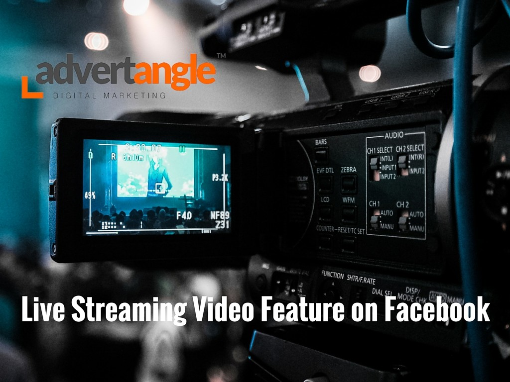 Live Streaming VIdeo Feature on Facebook