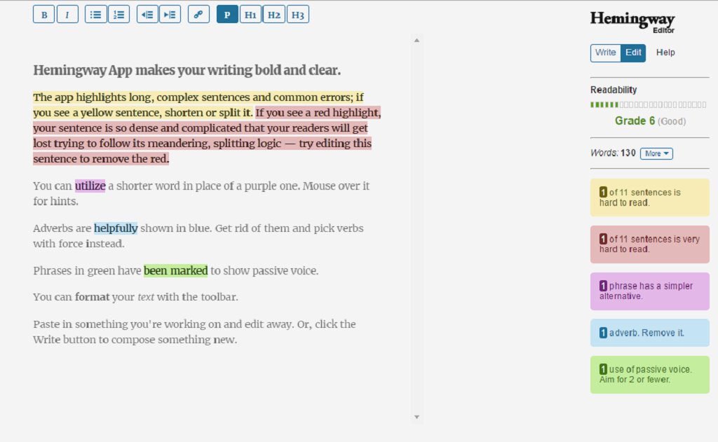 5 Free Writing Tools - HemingwayApp