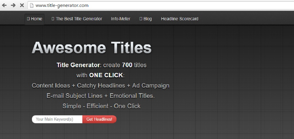 Amazingly useful tools to create catchy headlines - Title Generator